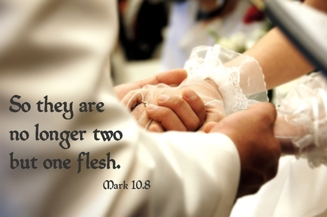 Mark 10.8 Poster - So they are no longer two, but one flesh. | Resources for Catholic Faith Education | Scoop.it