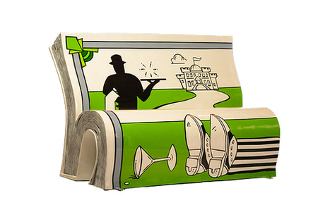 Creative Review - Illustrated book benches promote literacy in London | Libraries, books and everything in between | Scoop.it