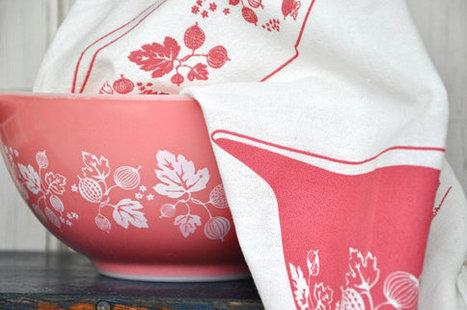 Tea Towel // Vintage Pyrex Gooseberry | QuiteQuainte | Scoop.it