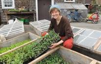 Young farmer Pedaling Vegetables - The Recorder | Vertical Farm - Food Factory | Scoop.it