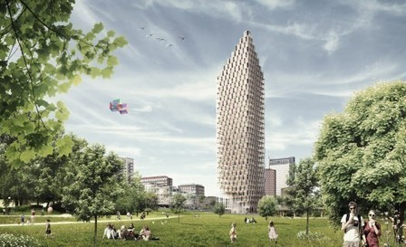 [ Stockholm, Sweden] Wooden Skyscraper / Berg | C.F. Møller Architects | The Architecture of the City | Scoop.it