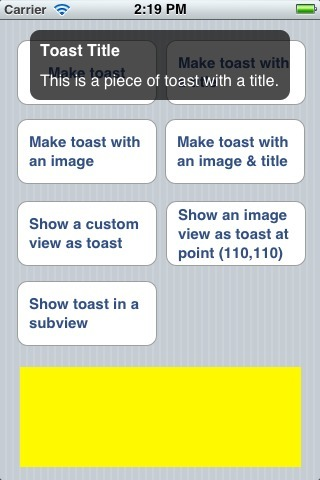 Toast+UIView | iPhone and iPad development | Scoop.it