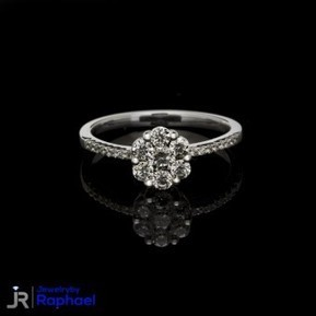1.69 Carat D Color Flower Diamond Ring 14k White Gold, Nice Size , Must See! Grand Opening Sale Prices!! | jewelrybyraphael | Scoop.it