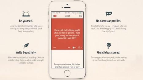 SECRET, le réseau social où l'on reste anonyme | Stratégies digitales 2.0. | Scoop.it