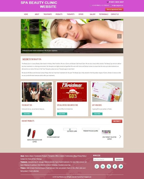 SPA Website : Give a Boost to your Spa Business through Your Own Spa Portal | PopularClones.Com : Scriptgiant Softwares Marketplace | Scoop.it