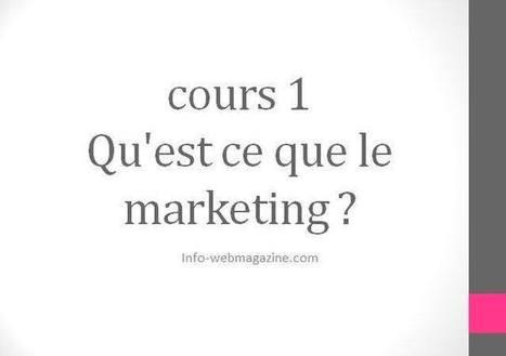cours 1 : Qu'est ce que le marketing ?: Groupe des marketeurs, Conseils Marketing etudes recherches E-Marketing | Doctorants , chercheurs et enseignants | Scoop.it