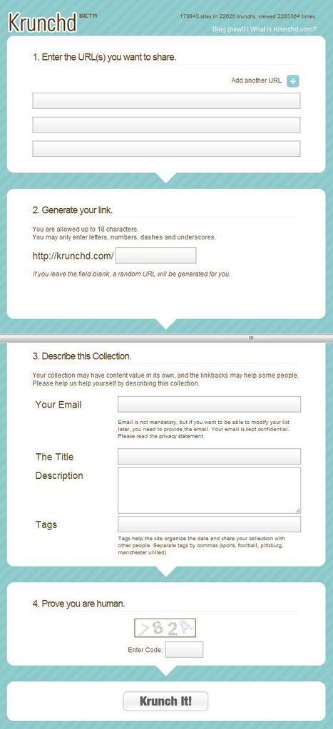 Krunchd.com - Krunch Multiple URLs into One Short URL | Time to Learn | Scoop.it