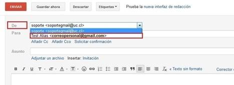 ¿Cómo utilizar de alias una cuenta de correo electrónico personal en Gmail UC?   Boletín Área de Soporte   Scoop.it