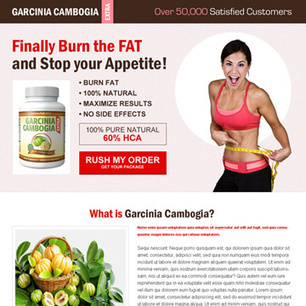 Buy garcinia cambogia call to action landing page design template to boost your conversion rate by double for your business conversion   Landing page design   Scoop.it