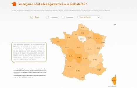 Grâce à ses bracelets connectés, Withings cartographie l'activité physique en France | Aie-Santé | Scoop.it