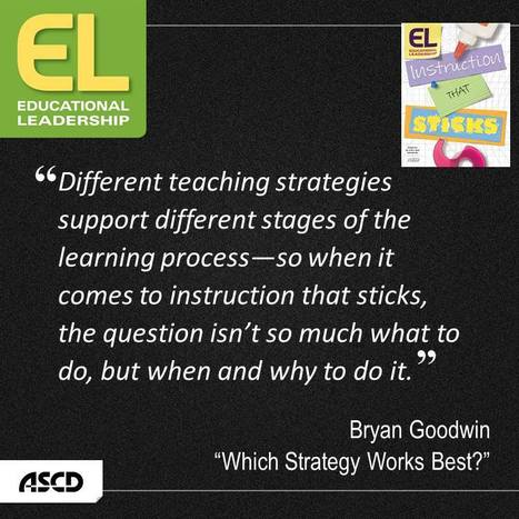 Educational Leadership:Which Strategy Works Best? | ASCD | 21st Century Teaching and Learning | Scoop.it