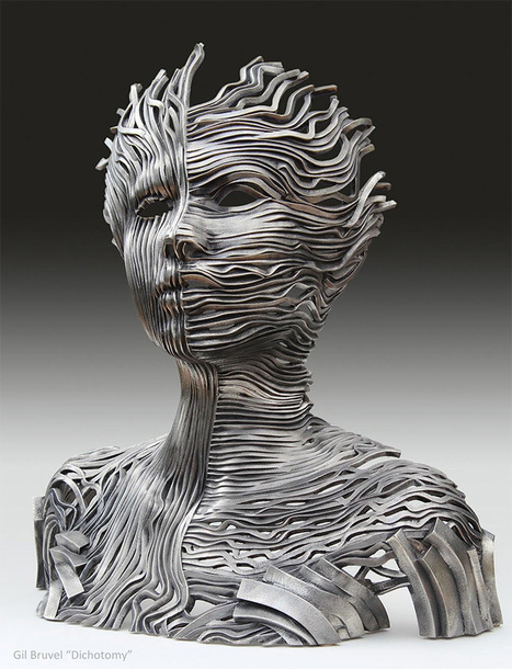 Perceiving the Flow: Human Figures Composed of Unraveling Stainless Steel Ribbons by Gil Bruvel | decoracion | Scoop.it