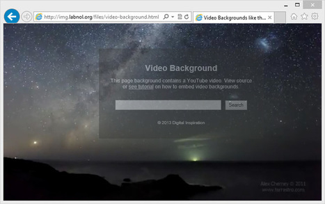 How to Use a YouTube Video as Background for Your Web Pages | Social Media & Technology World:  News and views about all aspects of technology, social media, marketing and related topics. | Scoop.it