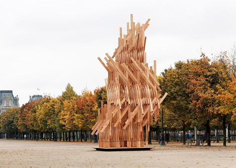 Kengo Kuma installs climbable wooden pavilion in Paris park | Communication design | Scoop.it
