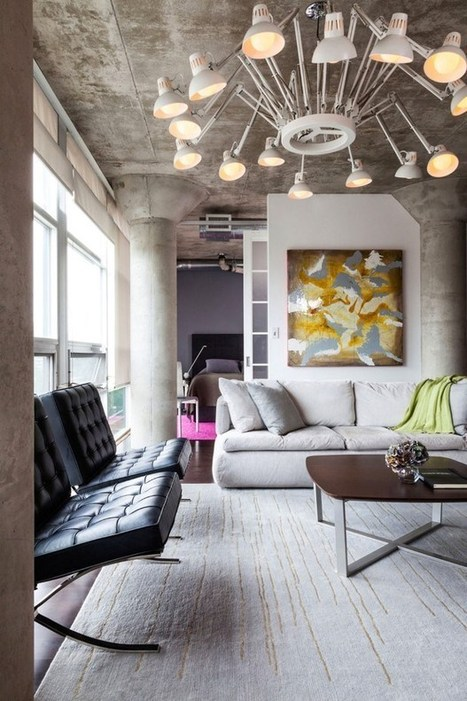 Industral Loft 002 With Cozy Accents in Toronto, Canada | Raw and Real Interior Design | Scoop.it