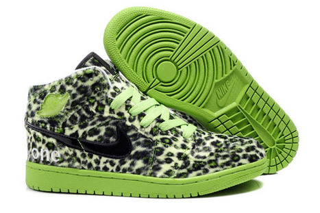 Jordan 1 High Lime GreenBlack Olympic Edition Pack Leopard Print | my style | Scoop.it