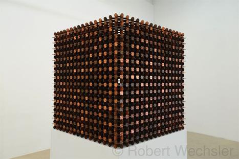 Sculptural Cubes Made from Thousands of Pennies by Robert Wechsler | SCULPTURES | Scoop.it