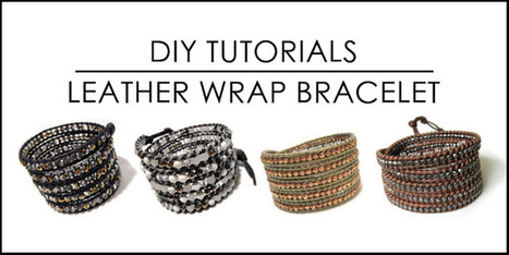 DIY: Chan Luu Style Leather Wrap Bracelet Tutorials & Tips | leather braiding | Scoop.it