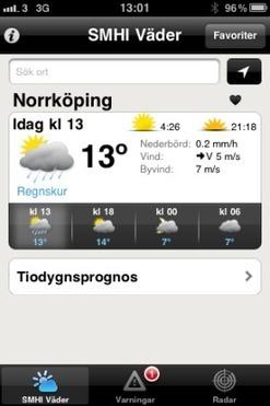 SMHIs väderprognoser för iPhone och Android | Nyhetsarkiv | SMHI | Folkbildning på nätet | Scoop.it