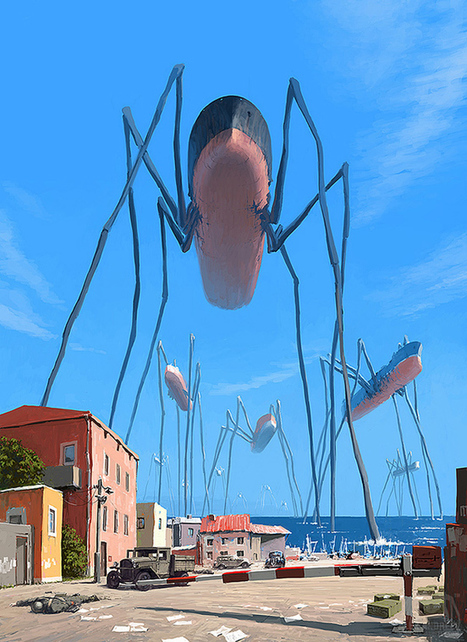 Surreal illustrations of an alternate floating world by Alex Andreyev | Interesting fun stuffs | Scoop.it