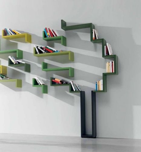 Furniture. Majestic Contemporary Book Shelving System Design Inspirations: Glamorous Modular Efficient Shelving System By Designer Daniele Lago From LagoLinea With A Slim And Simple Design ~ iiDudu   DESIGN   Scoop.it