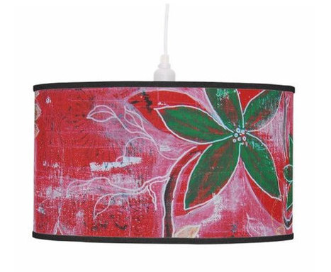 Drum Lamp shade or Pendant lamp stand for table, abstract red green flower design for home decor lighting, hanging flower light shade | Lampshades | Scoop.it