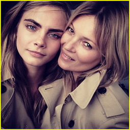 Cara Delevingne & Kate Moss Team Up for New Burberry Fragrance ... | fashion and media | Scoop.it