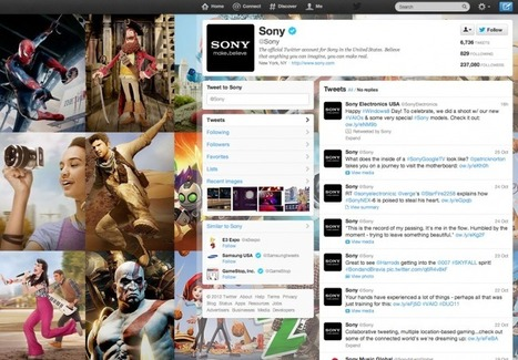 The 50 best Twitter profile design from brands | The Perfect Storm Team | Scoop.it