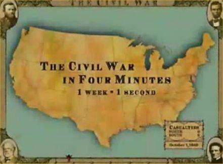 The Civil War in Four Minutes - Video | KB...Konnected's  Kaleidoscope of  Wonderful Websites! | Scoop.it