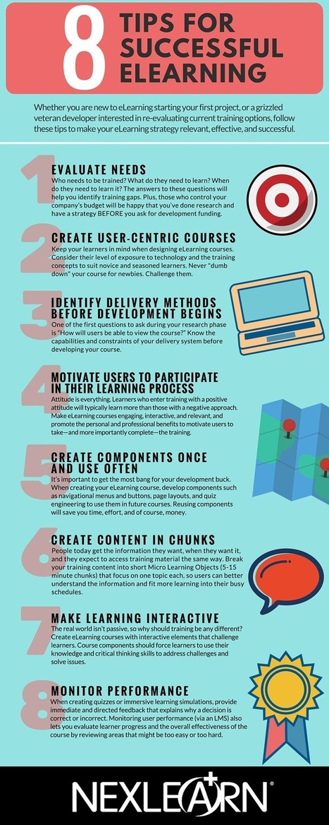 8 Tips for Successful eLearning Infographic | Learning & Training - www.click4it.org | Scoop.it