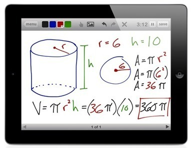 Free Technology for Teachers: Educreations - Use Your iPad as a Whiteboard and Record a Lesson | Educación Matemática | Scoop.it
