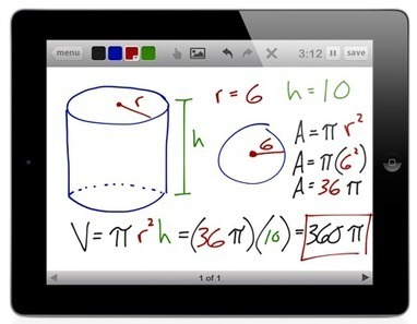 Free Technology for Teachers: Educreations - Use Your iPad as a Whiteboard and Record a Lesson | eLearning tools | Scoop.it