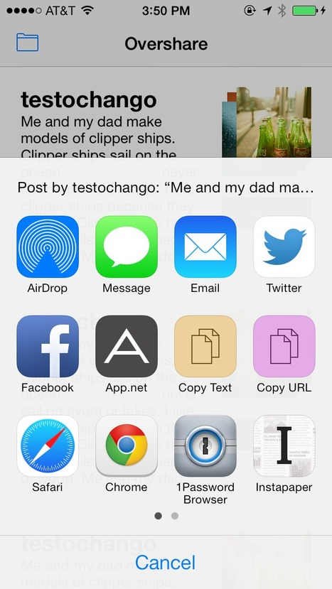 Overshare   iOS & OS X Development   Scoop.it