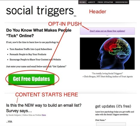11 Ways To Optimize Your Blog For Email Opt-Ins   Social Media   Scoop.it