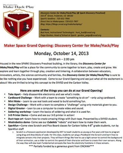 Our Little Makerspace That Will (Grand Opening Rescheduled) | Makerspace in the Library | Scoop.it