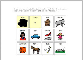 Larger and Smaller--free printable book | Speech-Language Pathology | Scoop.it
