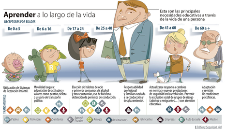 Seguridade Vial ao longo da vida (Infografía) | Salvaterra Educativa | Scoop.it