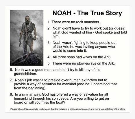 Noah: The Facts The Movie Seemed to Forgo - | The Natty Conservative | Scoop.it