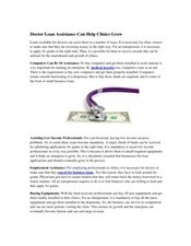 Doctor Loan Assistance Can Help Clinics Grow | Finance & Investment | Scoop.it