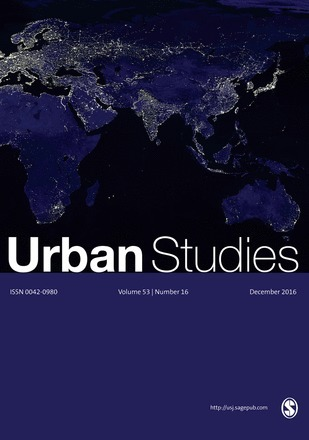 Urban Studies -  December 2016 - 53 (16) | Parution de revues | Scoop.it