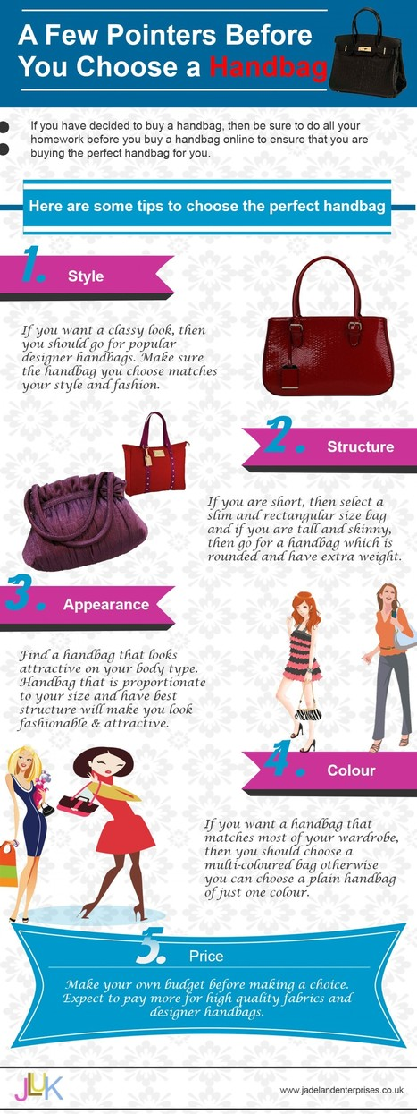 A Few Pointers Before You Choose a Handbag | Shopping | Scoop.it