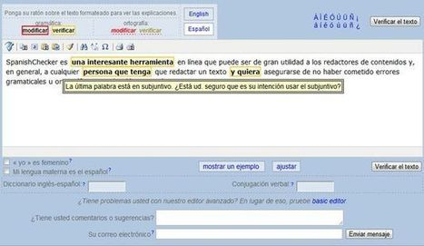 SpanishChecker, un corrector online de gramática y ortografía en español | Didactics and Technology in Education | Scoop.it