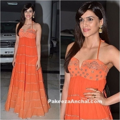 Kriti Sanon in thin strap Gown by Sukriti and Akriti | Indian Fashion Updates | Scoop.it