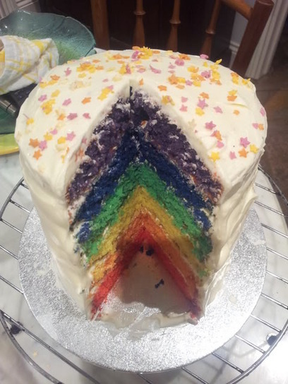 Six Layered Rainbow Cake | Cakes & Bakes | Scoop.it