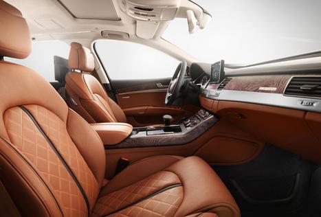 Audi A8 Exclusive Concept: le luxe ultime - Une voiture limitée à 50 exemplaires en partenariat avec Poltrona Frau | Motorsport, sports automobiles, Formula 1 & belles voitures | Scoop.it