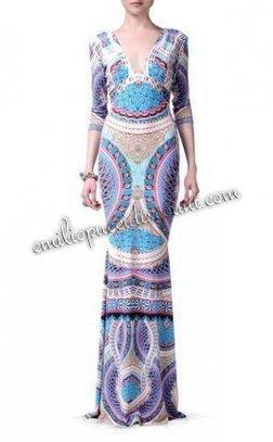 Cheap EMILIO PUCCI Long Dress Multicolor Pattern Print [Pattern Print Long Dress] - $204.99 : Emilio pucci dresses online outlet,discount pucci dresses on sale! | fashion dress | Scoop.it