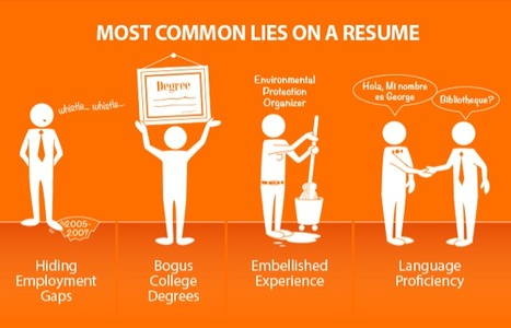 The Most Common Lies People Tell On Their Resumes | facts | Scoop.it