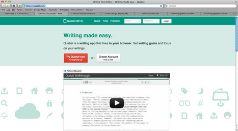 Online Text Editor - Writing made easy - Quabel | Edtech PK-12 | Scoop.it