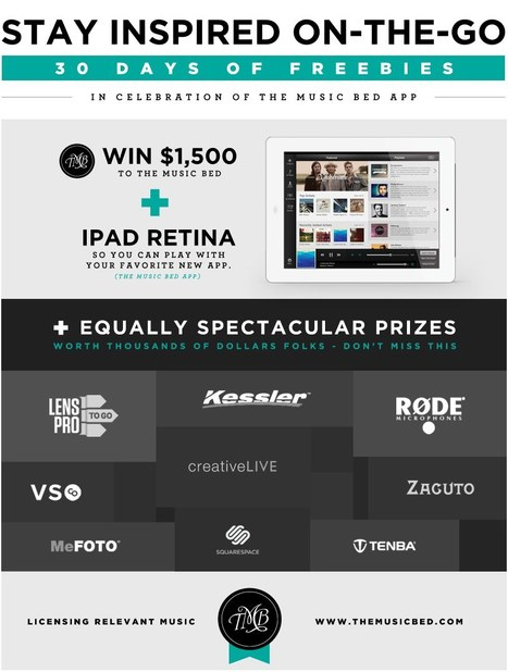 The Music Bed 30 days of freebies!   Videography   Scoop.it