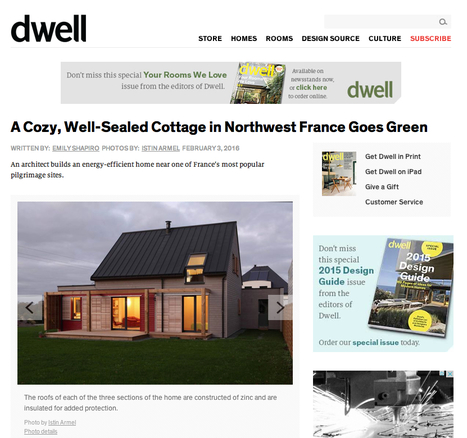 """"""" A Cozy, Well-Sealed Cottage in Northwest France Goes Green -architect Patrice Bideau """" - dwell 